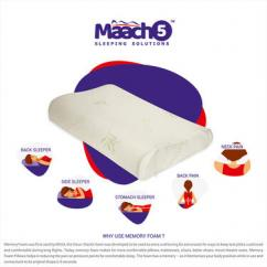 Memory Foam Standard Orthopedic Contour Pillow