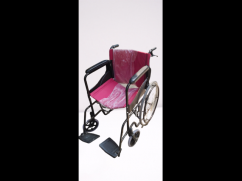 Folding Metal Steel Wheelchair with Dual Break and Seat Belt