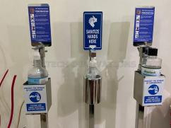 Foot Operated Hand Sanitizer Dispenser Stand for Covid19