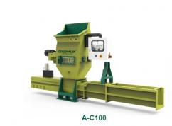 Recycling machine of GREENMAX styrofoam compactor A-C100