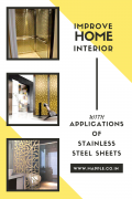 Applications of Designer Stainless Steel Sheets for an Appealing Home Interior