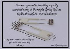Downlight Springs, Manufacturing of Springs and Wireforms