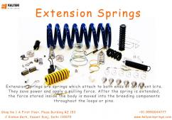 Extension Springs , Wire Forms springs -Kalyani Springs