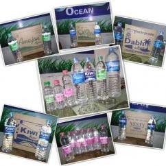 Drinking mineral water bottle