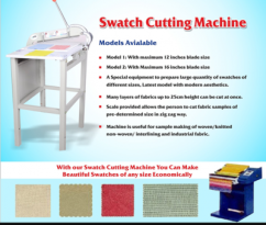 Fabric Swatch Cutters Manufacturers in India