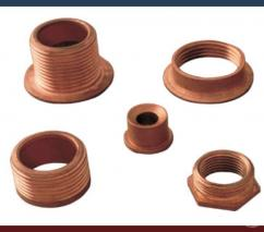 Durable Copper parts Manufactured at Nexim Alloys