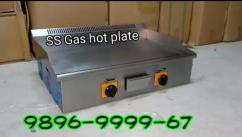 SS gas tawa hot plate , deep Fryer Sandwich Griller pizza Oven display