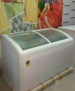 Glass top sliding glass freezer 400 L NGF 410