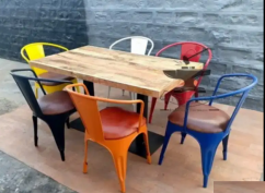 Outdoor indoor furniture dining table and chairs