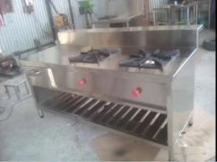 brand new 2 burner pure steel counter