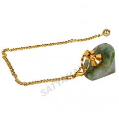 Satyamani Natural Green Aventurine conical Pendulum For Reiki