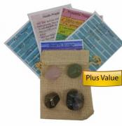 Crystals with Prayer cards for prosperity