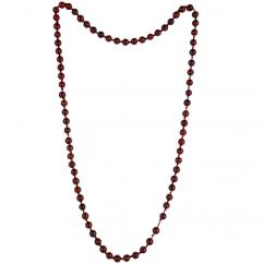 Satyamani Natural Red Jasper Semi-precious Stone Mala for Root Chakra