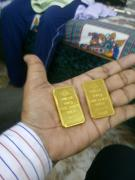 gold bars 3% less on market price, with bill.