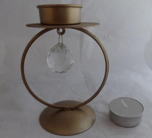 Tea Candle Holder With Sarwoski Ball