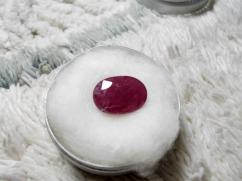 Natural Ruby Manik . Beautiful Purplish Red Color . Unheated