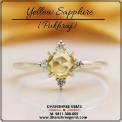 Buy Yellow Sapphire Gemstone Pukhraj Online