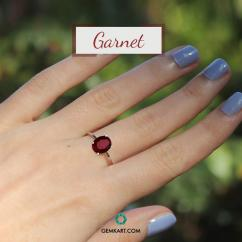 Buy Natural and Precious Garnet Gemstone Online in India Gemkart