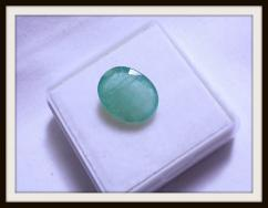 ZAMBIAN PANNA - BEAUTIFUL TRANSPARENT GREEN COLOR - UNHEATED