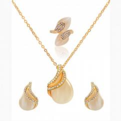 Buy Online Pearl Crystal Combo Jewelery Set At Giftipedia