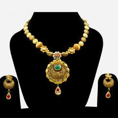 Handmade Bridal Gold jewellery Designs 2018