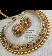 Beautiful jewellery with Stone & Beads Work