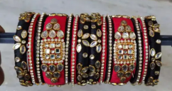 Silk thread traditional and party wear bangles