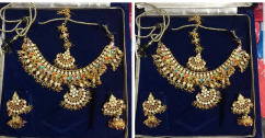 Multi color pearls set