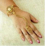 Adjustable Haath Phool Hath Panja Ethnic Wedding Jewelry Set