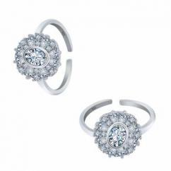 Beautiful silver toe rings