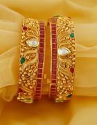Designer Bangles set for Saree and Handmade Bangles