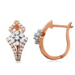 Diamond Bali Earrings