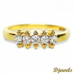 Natural Diamonds Studded Ladies Ring