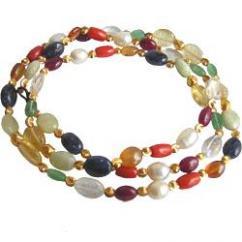 Navratna Mala Stone Necklace