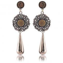 Mallakhamb silver oxidize earring jhumka