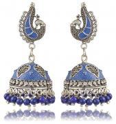 Hard Blue Jhumka Earring