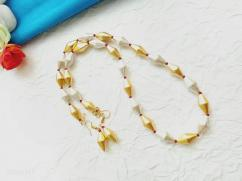 Golden and Silver Dholki Beads Mala