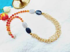 Latest Design of Orange Pearl Necklace
