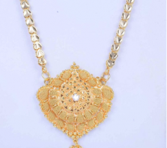 Gold Plated Long Chain Necklace Set