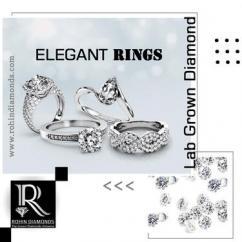 Elegant rings with loose lab grown diamonds