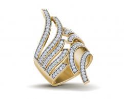 Edana Wide Diamond Band In 14k gold