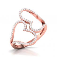 Open Heart Shaped Diamond Ring