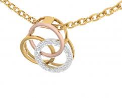 Amy Diamond Pendant in tricolor gold with diamonds