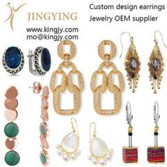 Custom earrings zirconia 925 silver