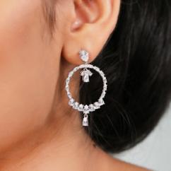 Amazing pure silver earrings