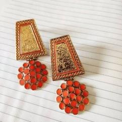Handcrafted Meena Work Artistry Earring