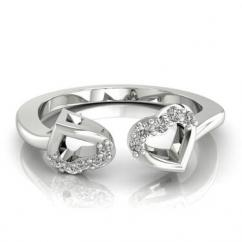Two Heart Shaped Diamond Ring