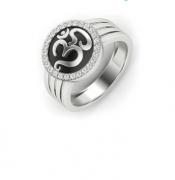 Men Silver Enamel Rings
