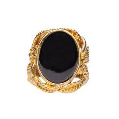 Black Agate Ring For Men