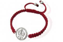 Khanda Bracelet In Silver With Diamonds